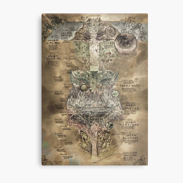 Made in Abyss - The Abyss Map Metal Print