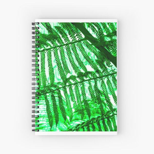 Green Fern X-Ray Spiral Notebook