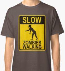 Slow Zombies Walking Classic T-Shirt