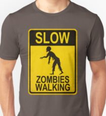 Slow Zombies Walking Unisex T-Shirt
