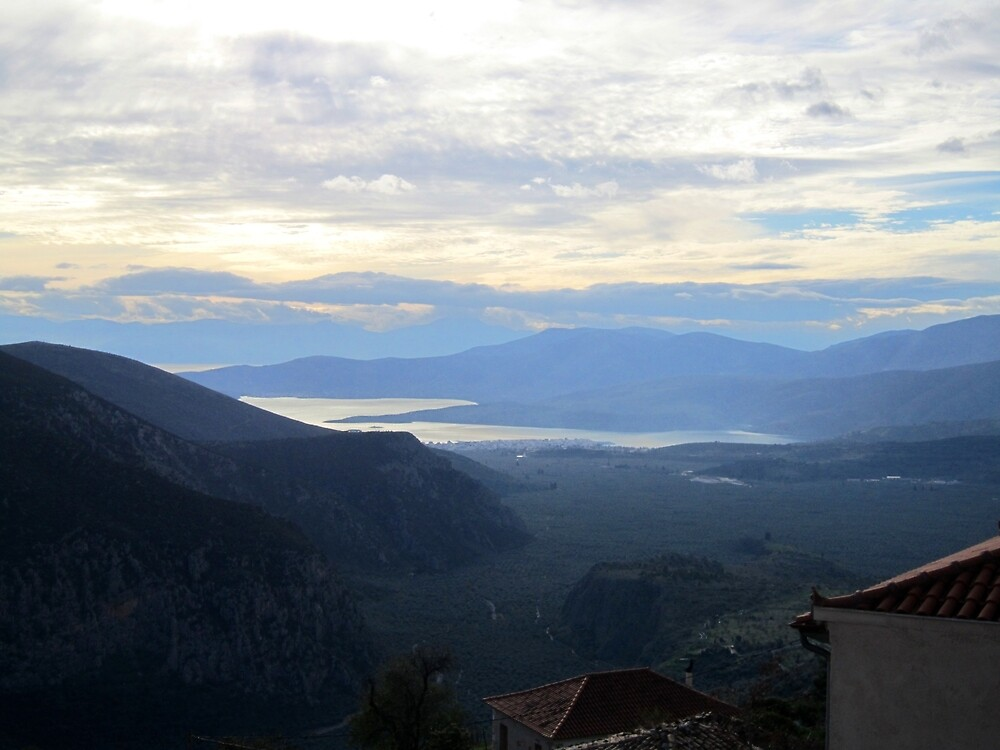 View from Delphi, Greece by Eleanor11