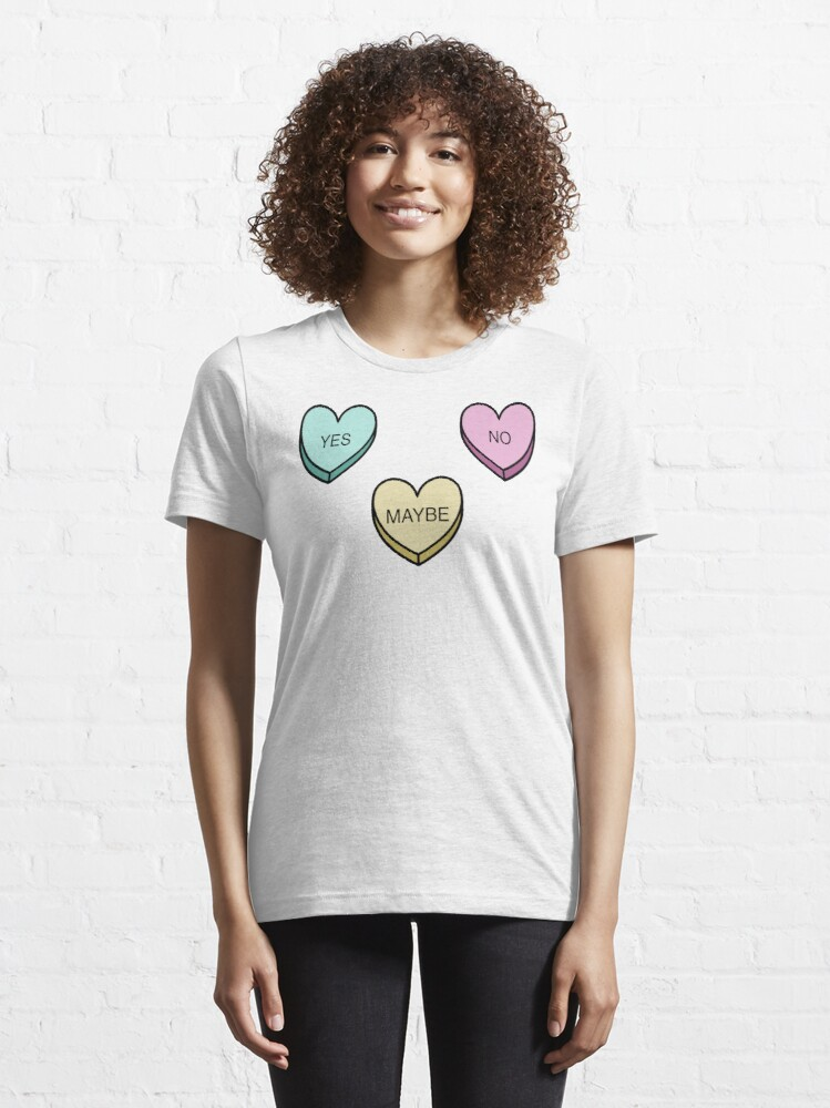 Alternate view of Indecisive Candy Hearts Essential T-Shirt