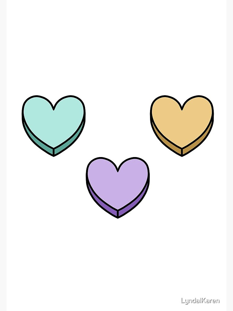 Rainbow Candy Hearts by LyndalKaren