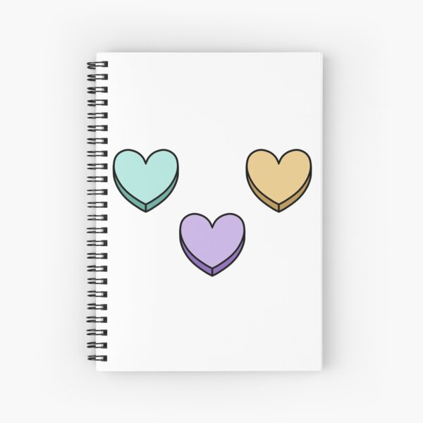 Rainbow Candy Hearts Spiral Notebook