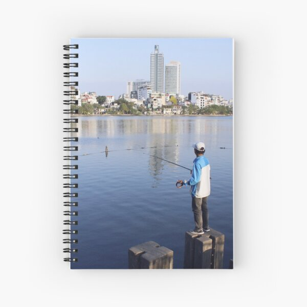 Gone fishing in Truc Bach, Hanoi Spiral Notebook