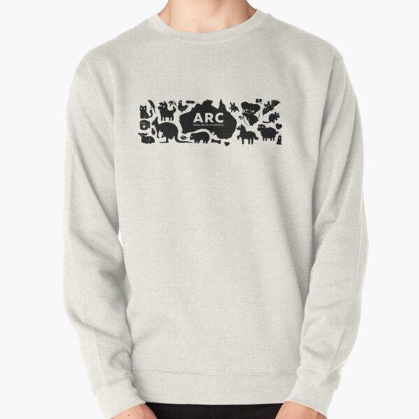 ARC Animals across Australia - black type Pullover Sweatshirt