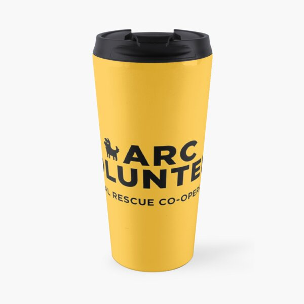 ARC Volunteer - black type Travel Mug