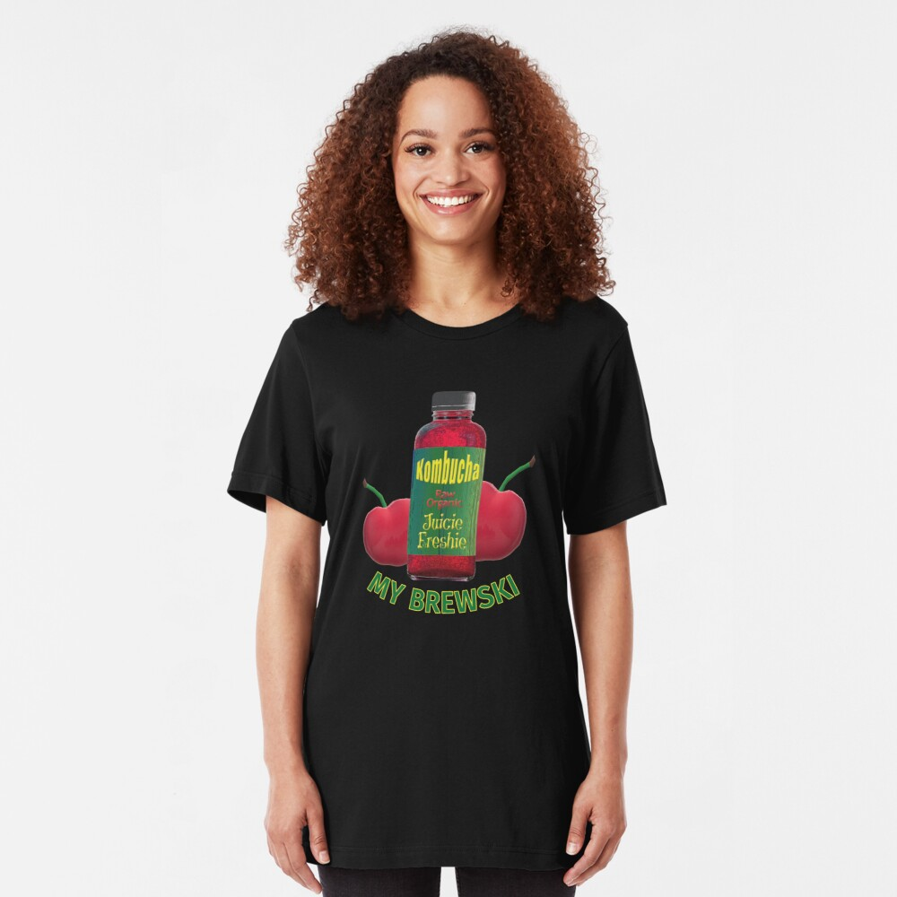 Kombucha. My Brewski. Slim Fit T-Shirt
