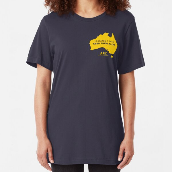 Animal Rescue Co-operative: 5 states. 1 task. Keep them alive - in yellow Slim Fit T-Shirt
