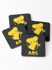 Animal Rescue Co-operative - Koala in yellow! We are working hard for you little bud <3 Coasters