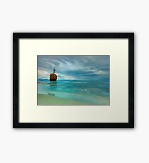 Famous Gytheio Shipwreck in Greece Framed Print