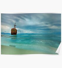 Famous Gytheio Shipwreck in Greece Poster