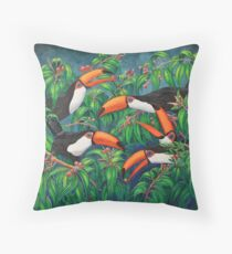 """Toucan Tea"" Throw Pillow"