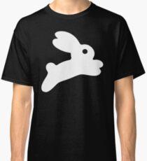 Jumping White Bunny Classic T-Shirt