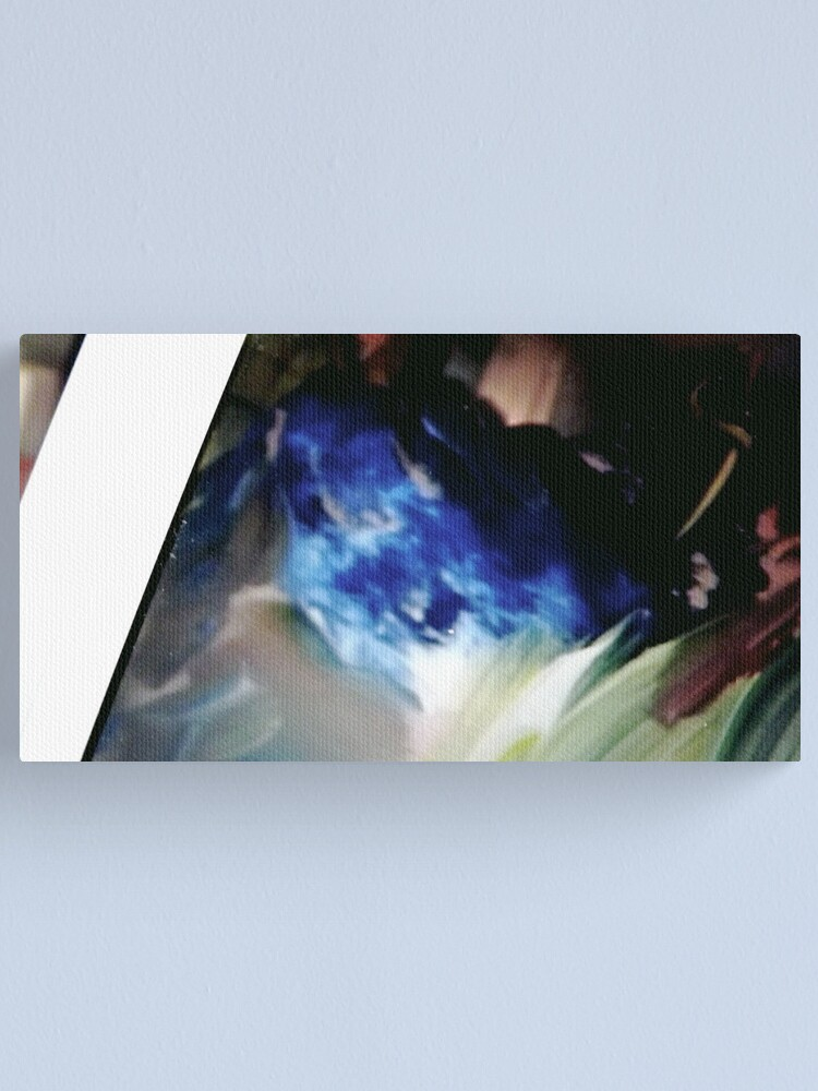 """Alternate view of Blue Rabbit:  Detail from """"Elementals"""" Canvas Print"""