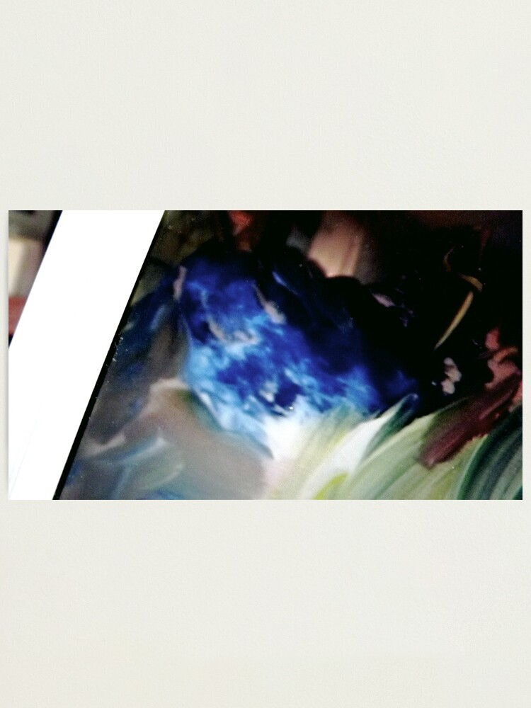 """Alternate view of Blue Rabbit:  Detail from """"Elementals"""" Photographic Print"""