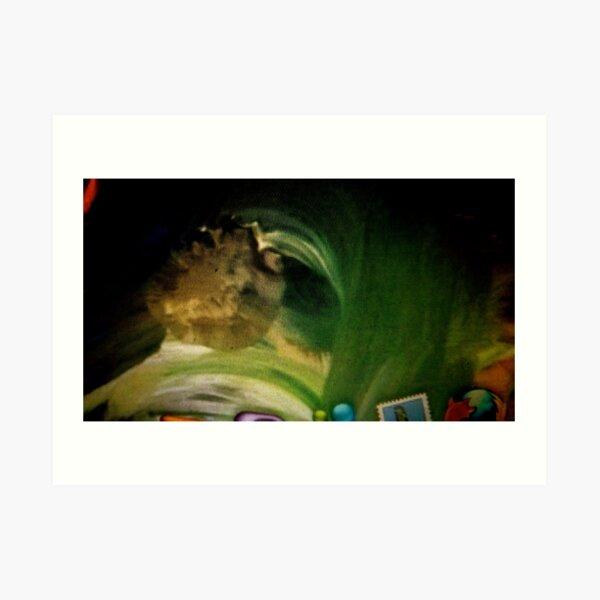 """Green"":  Detail from ""Elementals"" Art Print"
