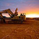 Komatsu PC1250 Excavator - Randalls Gold Project - Emu Flats WA by Chris Paddick