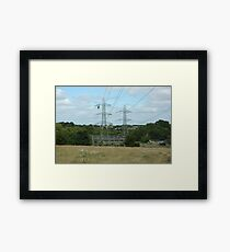 """Tension Tower, South Wales"" Framed Print"
