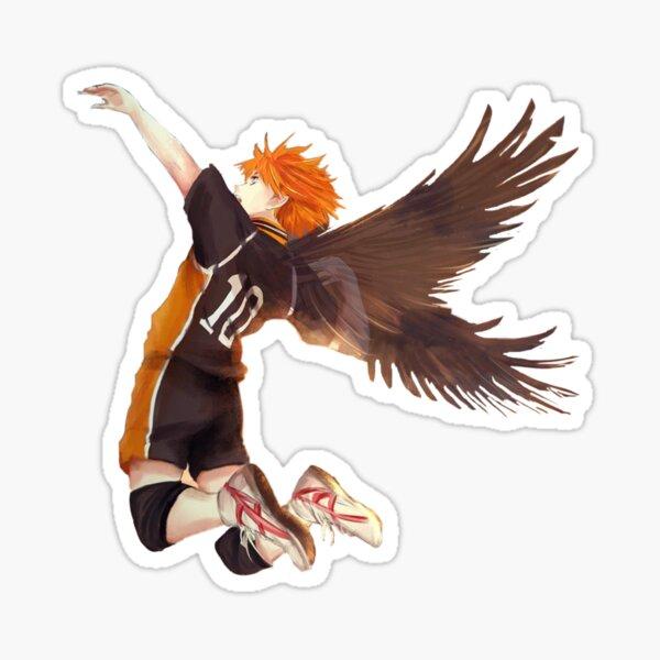 Hinata Shoyo volando Pegatina