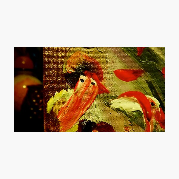 """""""Bearded Snow Man, Plumed Hat"""":  Detail from """"Christmas to Easter"""" Photographic Print"""