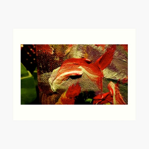 """""""Here's Lookin' at YOU, Kid...."""":  Detail from """"From Christmas to Easter"""" Art Print"""