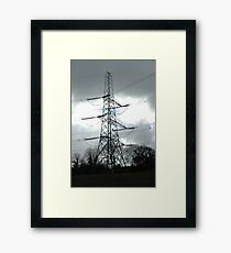 """Tension Tower and Storm Imminent"" Framed Print"