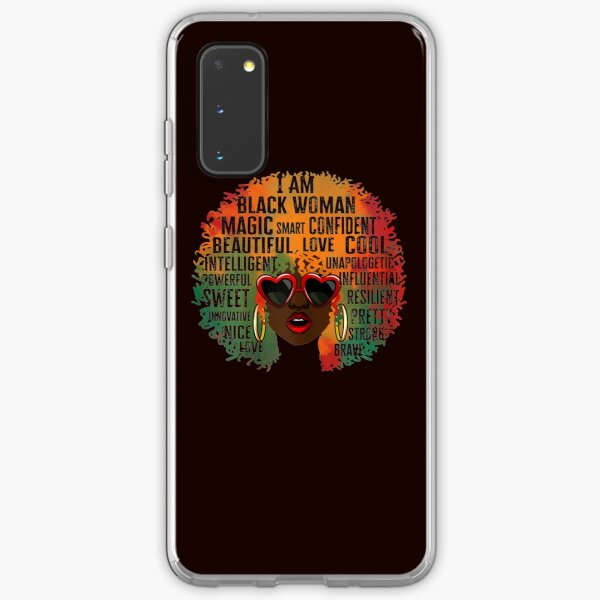 womens african american queen i am black woman history month pride t shirt 444 Samsung Galaxy Soft Case