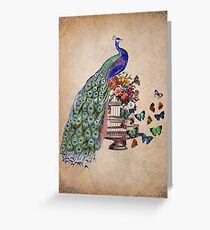 Vintage Peacock Beauty Greeting Card