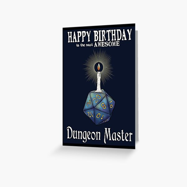 Happy Birthday Dungeon Master Greeting Card