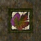 Houndstooth Grape Leaf by Alma Lee