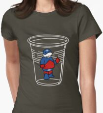 Teeny Little Atom Guy Women's Fitted T-Shirt