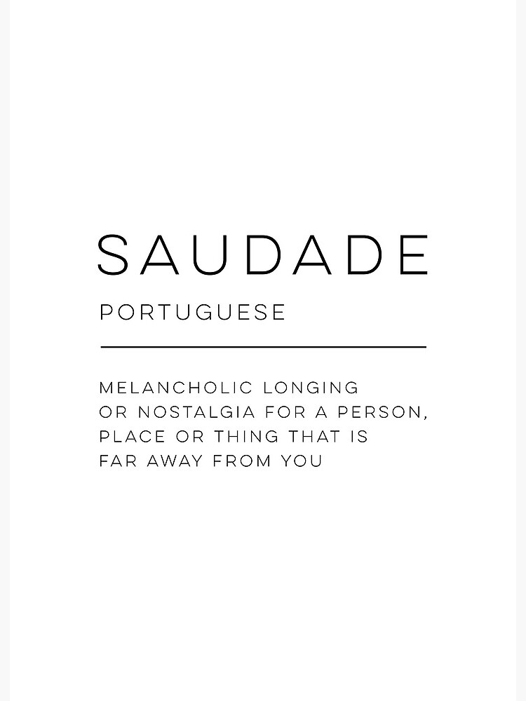 "Saudade Definition"" Art Board Print by wisemagpie 
