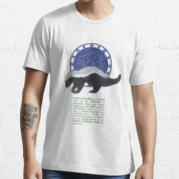 Honey Badger Spirit Animal Zodiac Essential T-Shirt