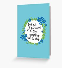 Ten Seconds | Blue Greeting Card