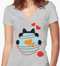 Wool Web Women's Fitted V-Neck T-Shirt