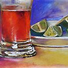 Beer Glass & Lemons 2 by Magaly Burton