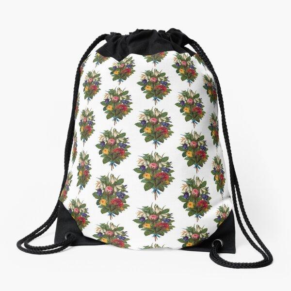 Shabby Chic Fowers Drawstring Bag