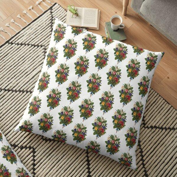 Shabby Chic Fowers Floor Pillow