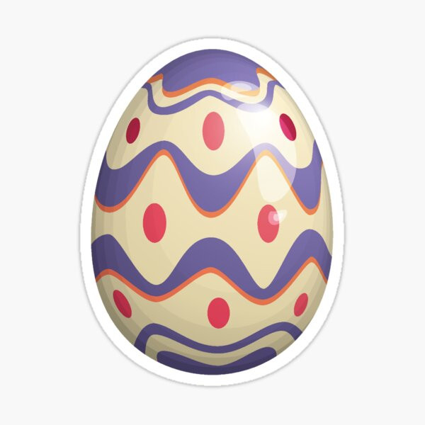 Easter Egg of Community | Purple Waves Red Spots  Sticker