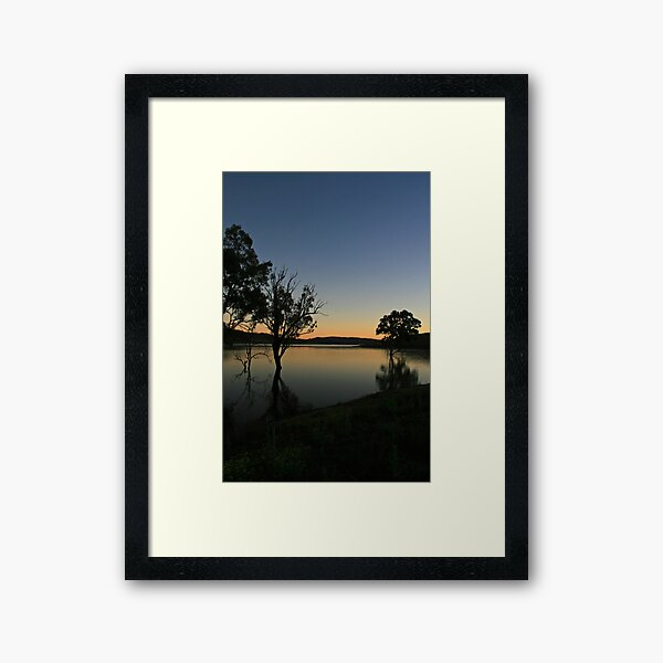 Wyaralong sunrise Framed Art Print