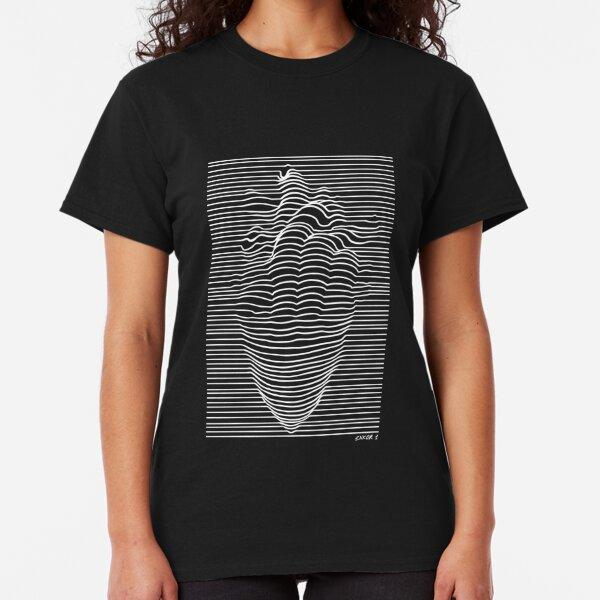 Line heart white T-shirt classique