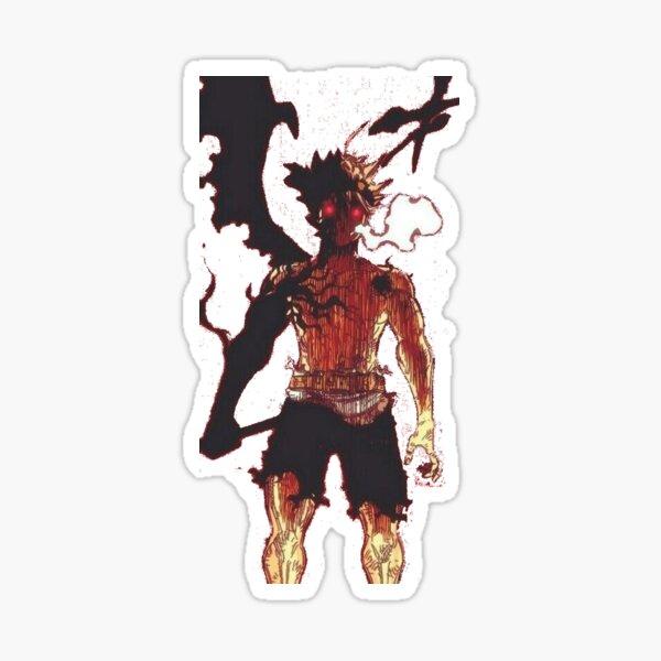 black clover, asta demon transformation Sticker
