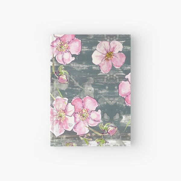 Pretty pastel floral - allover! Hardcover Journal