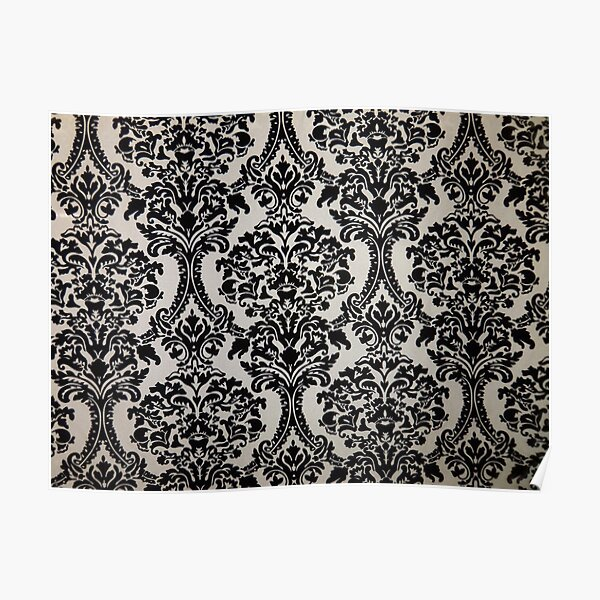 Black and White Damask Merchandise Poster