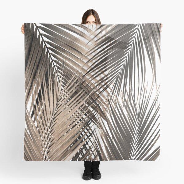Golden Brown Palm Leaves Dream - Cali Summer Vibes #1 #tropical #decor #art  Scarf