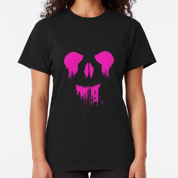 Dripping Skull - Hot Pink Classic T-Shirt