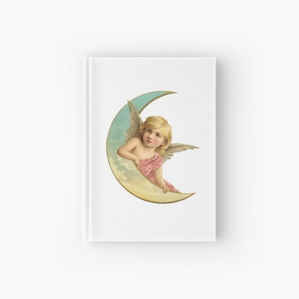 Angel on the Moon Hardcover Journal