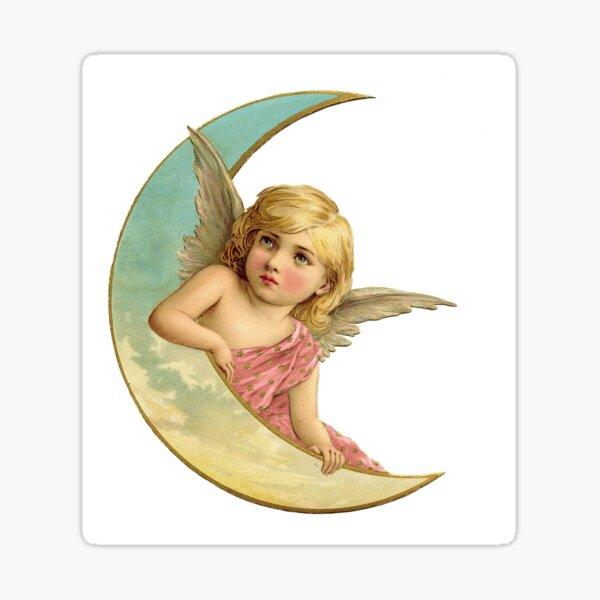 Angel on the Moon Sticker