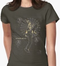 JETPACKS ARE GO TECH Womens Fitted T-Shirt